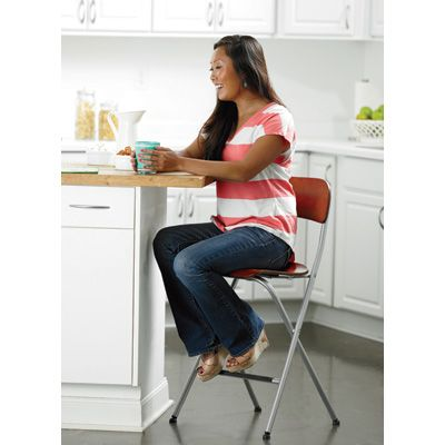 Add 4 Folding Bar Stools For Extra Company Seating When Using Island As  Kitchen Table.