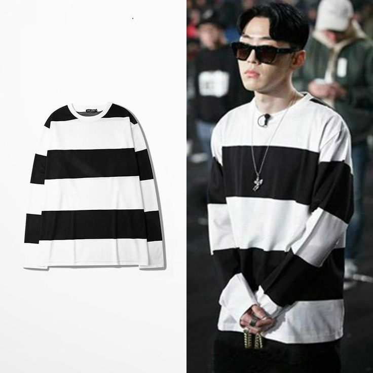 sleeve tattoos Show Me The Money 5gray Aomg Black And White Striped Long Sleeve T Shirt Fashion Kanye West Hipster Tshirt Harajuku Tshirt Homme *** Click the image to visit the AliExpress website