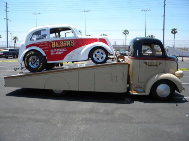 60s Anglia gasser & COE ramp Truck- WAY cool, daddy-o