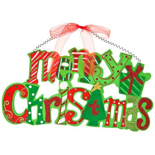 Merry christmas wall plaque poundland