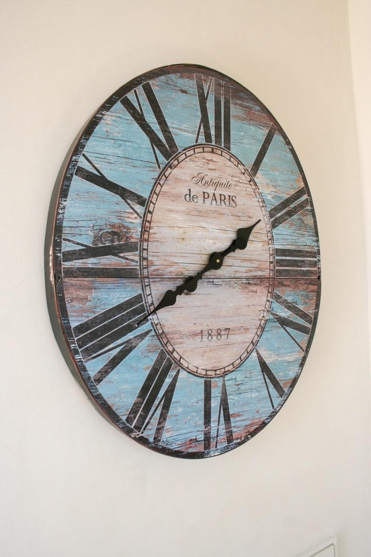 beachy and rustic clock