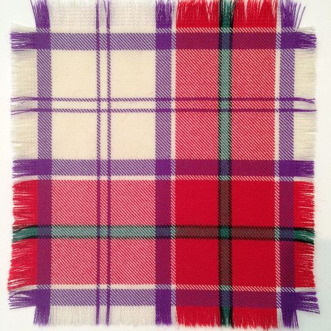 Red Culloden - 100% Wool Tartan Fabric – Highland In Style