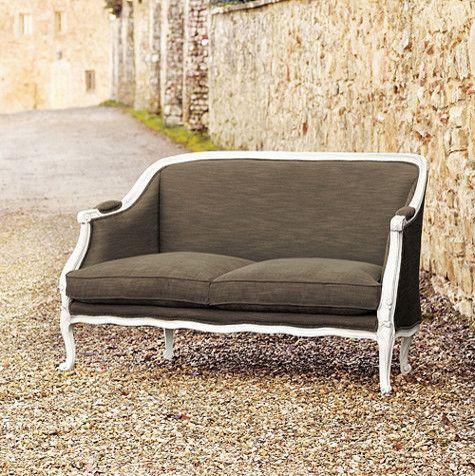 Bergamo Upholstered Settee - traditional - upholstery fabric - Ballard Designs