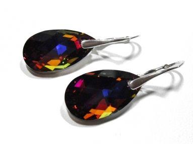 Zilveren oorbellen met swarovski elementen
