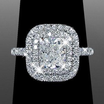double halo cushion cut vanessa nicole jewels square halo engagement ringsengagement