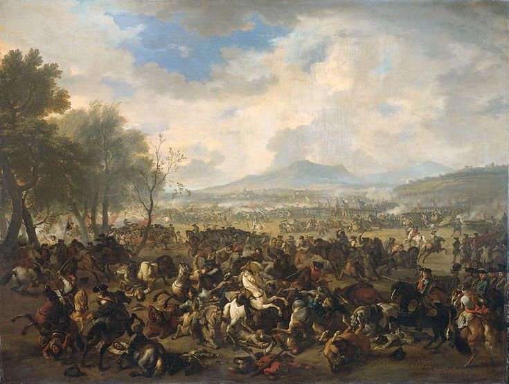 The Battle of Ramillies between the French and the English, 23 May 1706.