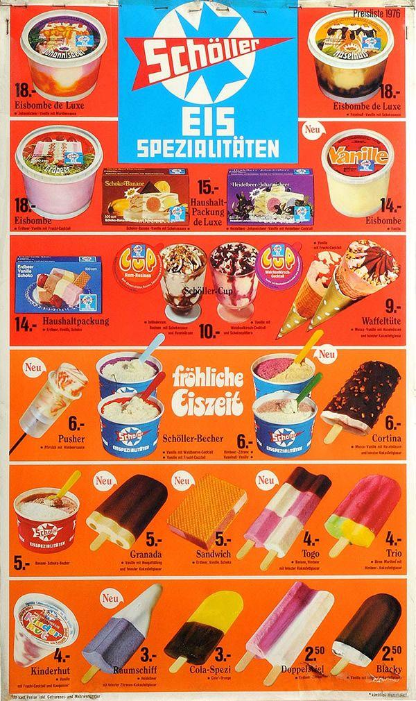 Schöller Eissorten
