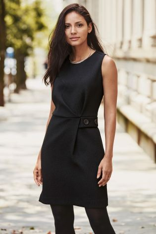 Buy Black Textured Shift Dress from the Next UK online shop