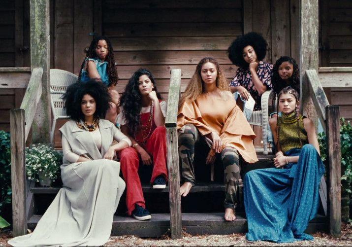 Beyoncé + Lisa-Kaindé & Naomi Diaz of Ibeyi, Chloe x Halle, Amandla Stenberg and Zendaya. #LEMONADE