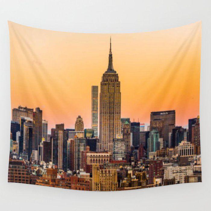 New York City Skyline Wall Tapestry By Mackenzie Fowler Small 51 X 60 In 2020 City Skyline Wall Tapestry Skyline