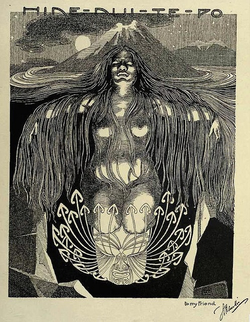 Wilhelm Dittmer - Te Tohunga 1907 - Hinenuitepo I love this book. The illustrations are excellent.