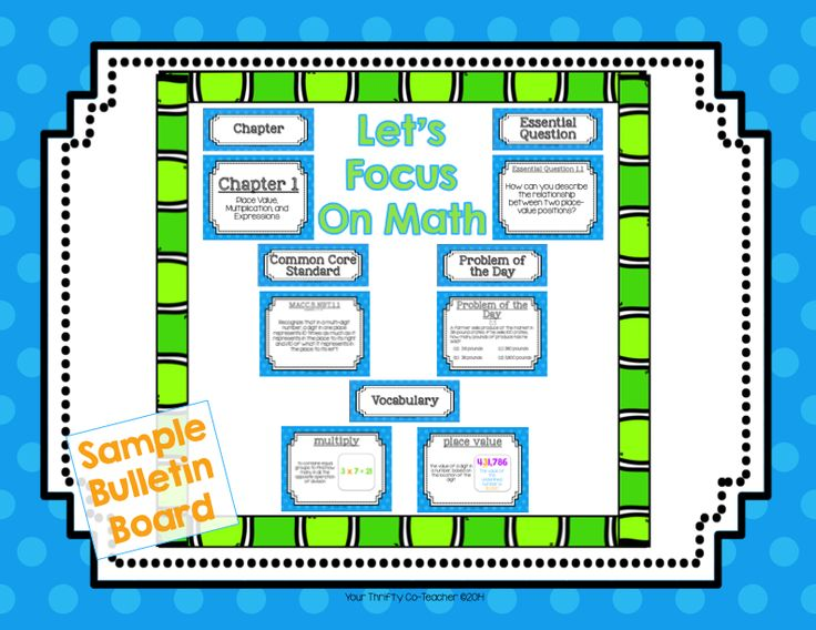 Your Thrifty Co-Teacher: FREEBIE - Let's Stay Focused with Math Focus Wall ...