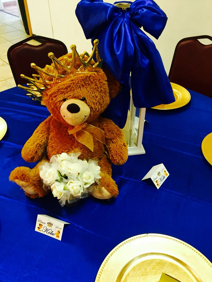 Babyshower Royal Blue Gold Prince Theme In 2019 Teddy