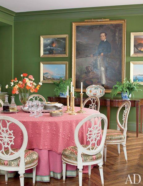 Photos: Inspiring Green Rooms from the AD Archives : Architectural Digest