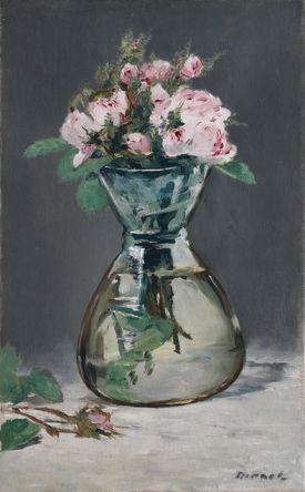 Manet, Édouard - Roses mousseuses dans un vase - The Clark Art Institute, Williamstown