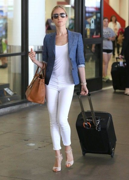 Kristin Cavallari--Chambray Blazer and White Jeans