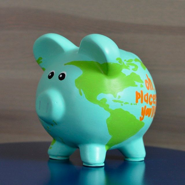 World Map Piggy Bank