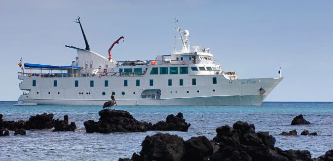 The La Pinta boasts some of the largest cabins of any Galapagos yacht, with floor-to-ceiling windows in all cabins. Its social areas are home to stunning views of the Sslands thanks to its panoramic windows, while its outside deck areas are home to an observation deck, as well as perfect areas for a spot of relaxation.