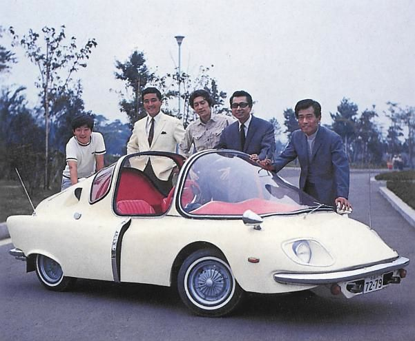 "1967 Subaru 360 Deluxe custom for the 1968 Japanese series: ""Operation: Mystery!"". This was the patrol car and was called the 'Tortoise'. (Thx Richard D. Law!)"