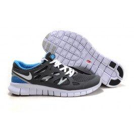 Wholesale Nike Free Run+ 2 Lysblå Grå Unisexsko Skobutik | denmarksko.com