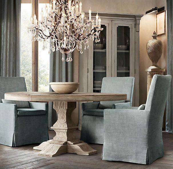 mesa comedor redonda maciza