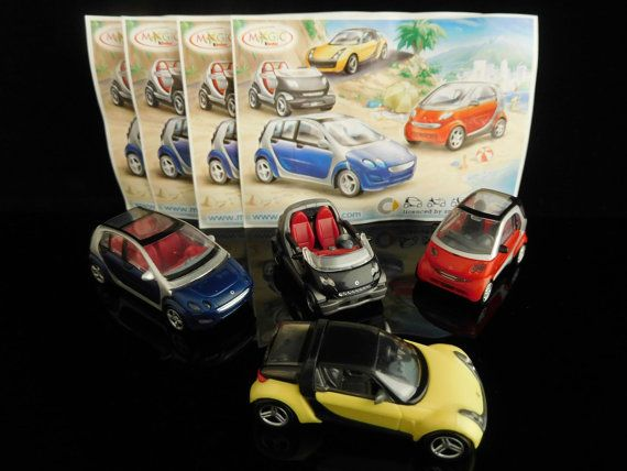 Vintage toys collectible SMART car set of by MrVintageToySurprise