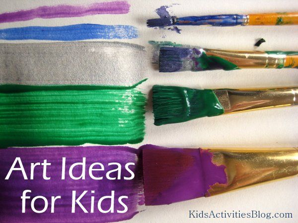 Kids love to paint! Here is an educational & fun art idea for kids- Explore paint brushes
