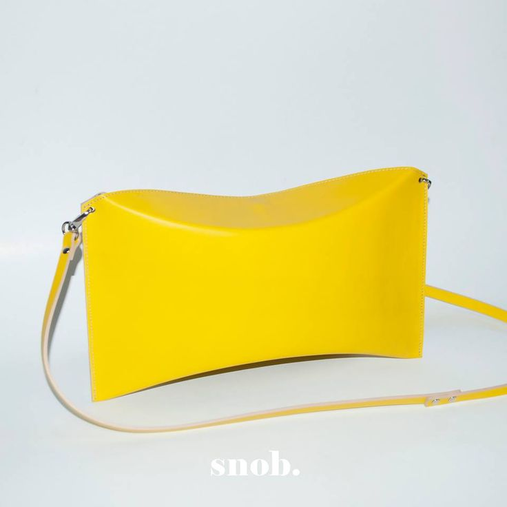 Sunny pillow box! ‪#‎snob‬ ‪#‎snobdot‬ #bag #leather #yellow #summer