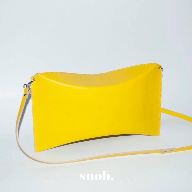 Sunny pillow box! #snob #snobdot #bag #leather #yellow #summer