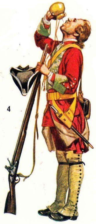 Gooch's Regiment, North America, 1740.