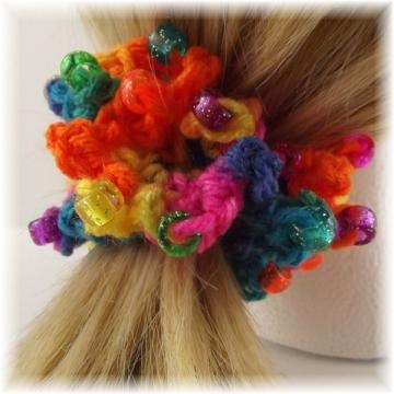 Crochet Hair With Rubber Bands : hair crochet hair carnival crocheted beaded hair rubber bands hair ...