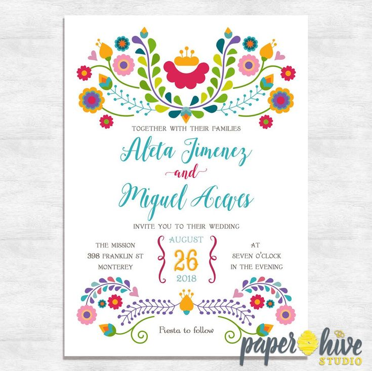 Fiesta Invitaciones de boda / invitaciones de boda mexicanas / invitaciones de boda imprimibles / invitaciones de boda impresas