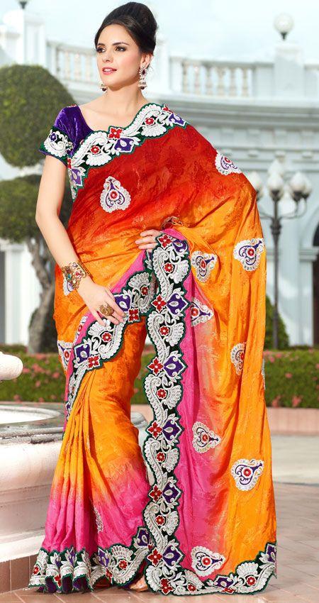 Maroon And Pink Color Viscose Jacquard Designer Saree TRKS127. Sale: $139.65