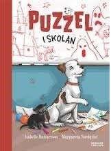 Puzzel i skolan /, av Isabelle Halvarsson ... Den femte boken om valpen Puzzel. Det är stökigt och bråkigt i lillmatte Mimmis klass. En dag får fröken idén att låna Puzzel. Eleverna blir entusiastiska. Puzzel måste lära sig att gå i skolan, sitta stilla och lyssna. Och när klassen åker på utflykt till Trollero slott och en elev försvinner är det tur att Puzzel är med. #kapitelbok
