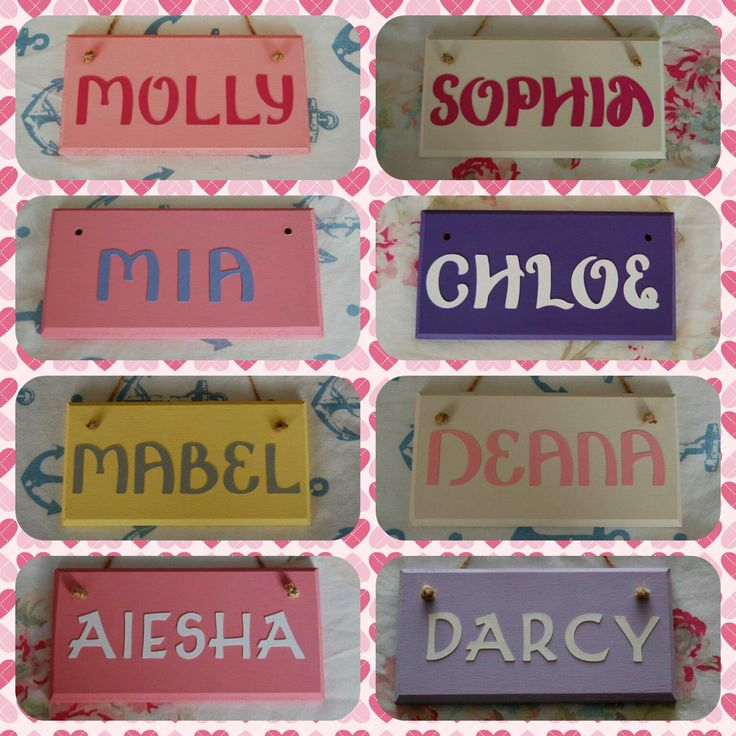 Girls Room Door Name Sign Name Plaque. Any Name (Max 6 letters), Any colours. Girls Bedroom Sign Personalised Girls Nursery Baby Girl Room by FairylandDecor on Etsy