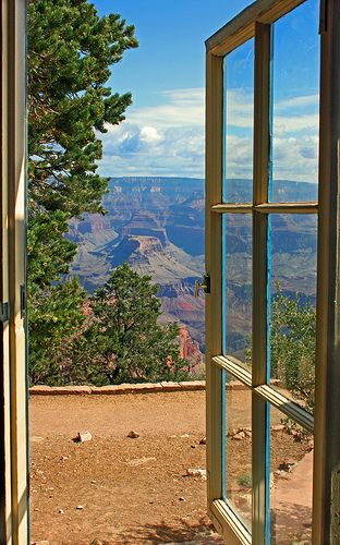 Window View of the Grand Canyon. Took this shot after staying at the Bright Angel Lodge for one night #grandcanyon