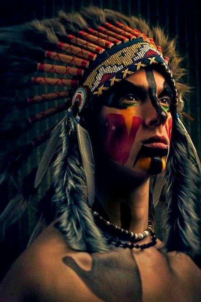 maquillage indienne homme, coiffe indienne et couleurs multiples ✨✨✨  Visitez votre boutique d