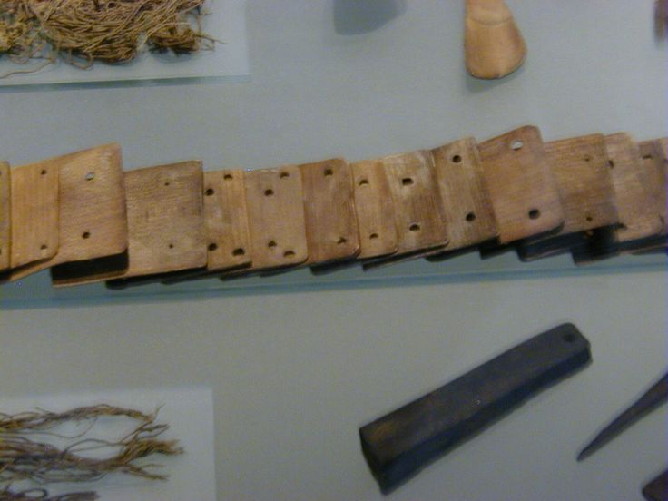 Closer look at the weaving tablets found in the Oseberg ship burial, on display in Oslo.