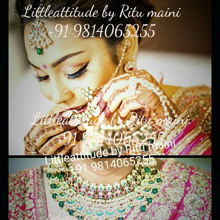 Beautiful bride in jewelry by Littleattitude by Ritu maini  Make your day more special with are jewelry  #indianwedding #indianweddingbuzz #bridaljewelry #goldimitation #punjabibride #punjabiwedding #sikhweddings #sikhbride #punjabi #suits #wedmegood #weddingday #bridal