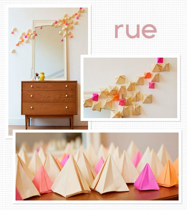 Decorating Paper Crafts For Home Decoration Interior Room: 17 Best Ideas About Origami Wall Art On Pinterest