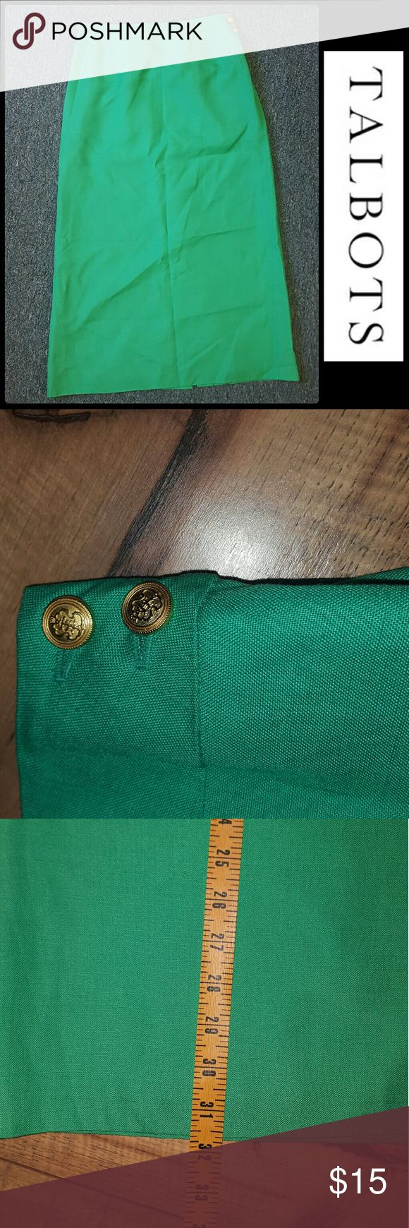 TALBOTS KELLY GREEN PENCIL SKIRT SZ 4P BEAUTIFUL MIDI PENCIL SKIRT. PLEASE FEEL FREE TO MAKE AN OFFER!!! Talbots Skirts Midi