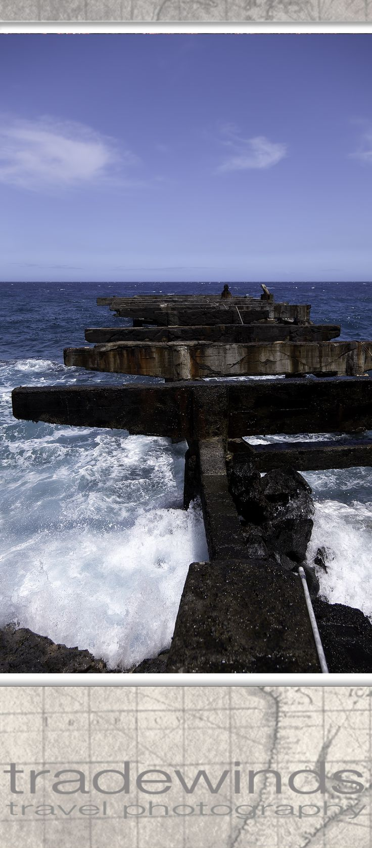 Dilapidated pier at Whittington Beach Park,  Hawaii