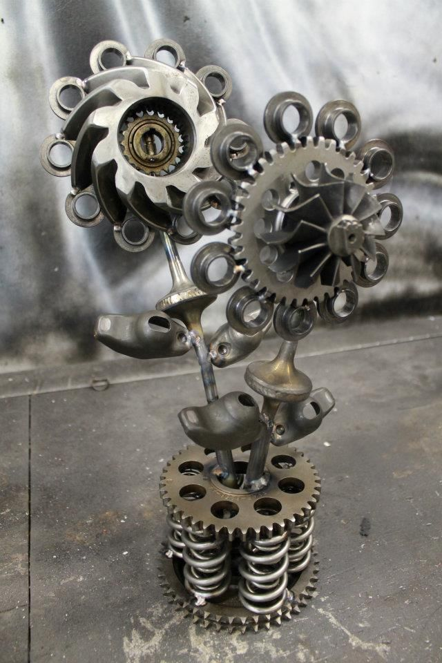 Flowers Made Out Of Tractor Parts : Best ideas about welding art projects on pinterest