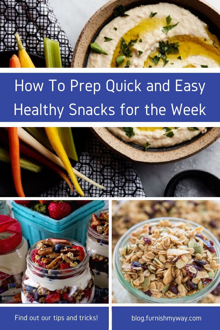 As someone who always packs snacks everywhere, having healthy snacks prepped in advance is crucial. Here are some of my favorites that are quick and easy!