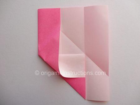 Origami Magie Rose Cube Etape 6
