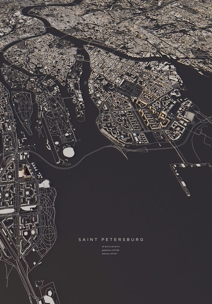 City Layouts: SAINT PETERSBURG | Luis Dilger | Source: Behance