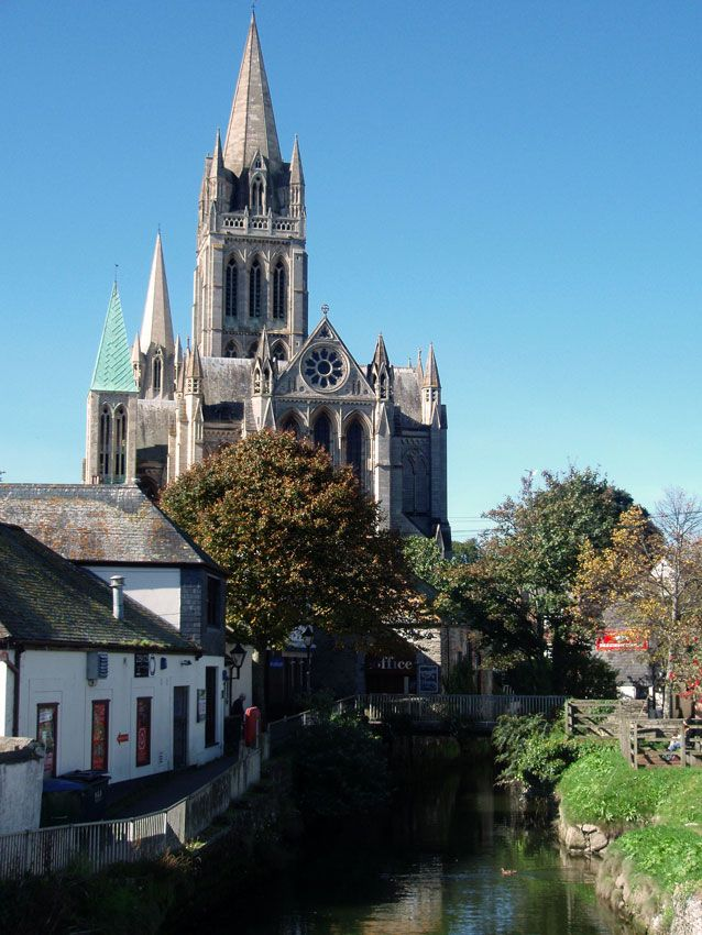 Truro Cathedral and River. I have sung at the cathedral so many times. Amazing acoustics x