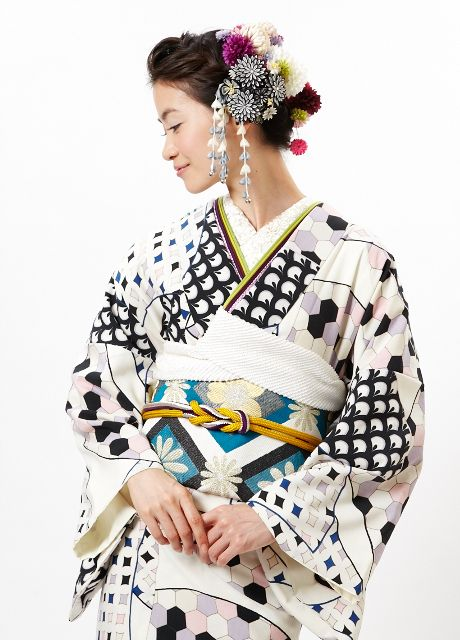 """Rakuten [2013] original fine pattern fan face drop: Furifu ♥♡♥♡♥Thanks, Pinterest Pinners, for stopping by, viewing, re-pinning, following my boards. Have a beautiful day! ^..^ and """"Feel free to share on Pinterest ^..^ #streetfashion #fashionupdates #kimono"""
