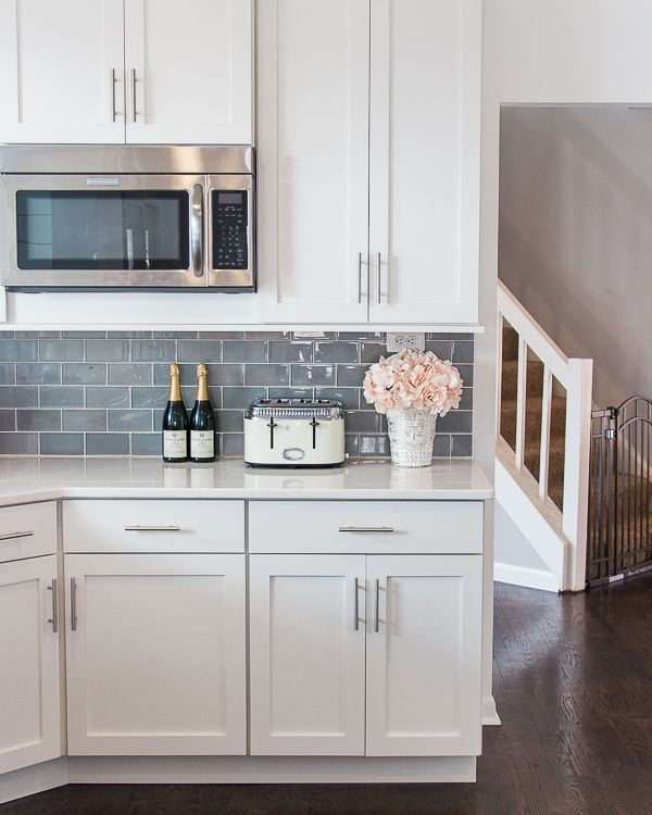 Shop My Instagram The Greenspring Home Gray Kitchen Backsplash Backsplash Kitchen White Cabinets Kitchen Cabinets Decor