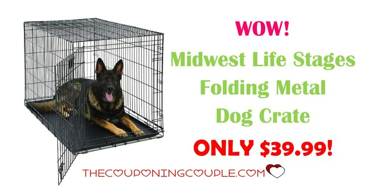 *WOW* Get the Midwest Life Stages Folding Metal Dog Crate for ONLY $39.99 was $159.99! These crates grow with the dog as they include a divider.  Click the link below to get all of the details ► http://www.thecouponingcouple.com/midwest-life-stages-folding-metal-dog-crate/ #Coupons #Couponing #CouponCommunity  Visit us at http://www.thecouponingcouple.com for more great posts!